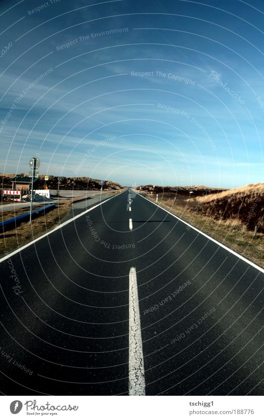 to the horizon Landscape Earth Sand Sky Clouds Horizon Beautiful weather Overpopulated Deserted Transport Traffic infrastructure Road traffic Motoring