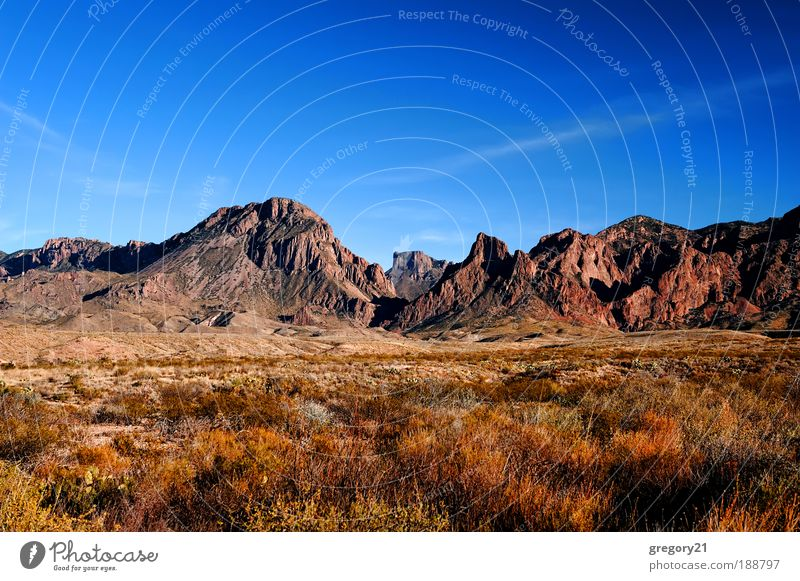 Mountain range against blue sky Vacation & Travel Nature Landscape Sand Sky Climate Tree Park Hill Rock Canyon Places Tall Wild Blue Red Colour area arid