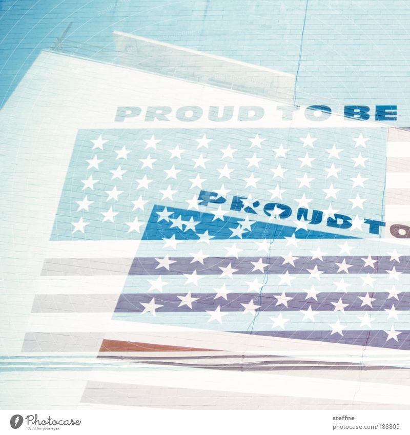 proud Double exposure San Diego USA American Flag Pride proud to be Colour photo Exterior shot Experimental Structures and shapes