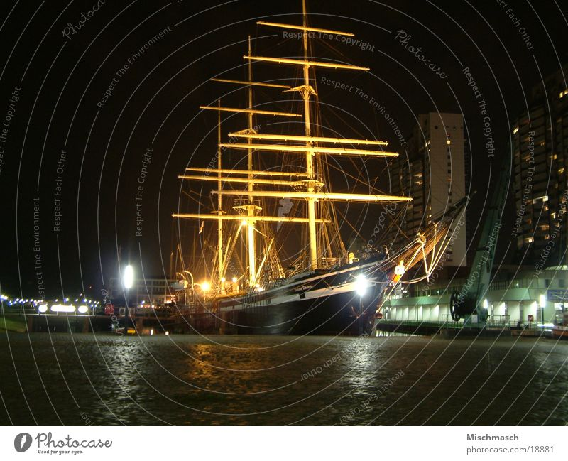 Bremen Historic Night shot Bremerhaven