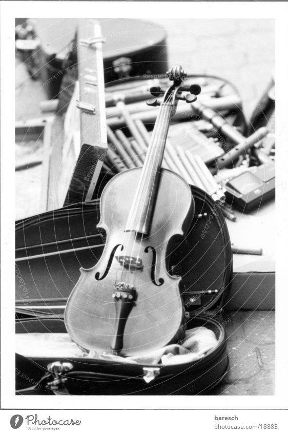 violin case Musical instrument Violin Leisure and hobbies Street Black & white photo
