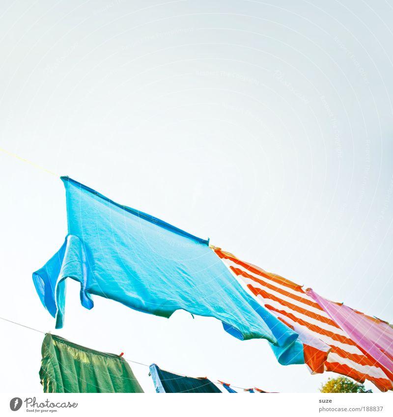 Sky Clothing Fresh T-shirt Rope Living or residing Stripe Pants Fragrance Hang Beautiful weather Washing Laundry Dry Clothesline