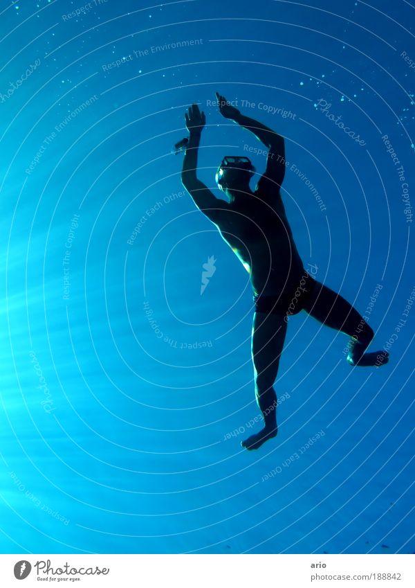 Water Sun Ocean Blue Black Far-off places Sports Life Freedom Happy Lake Human being Body Elegant Wet