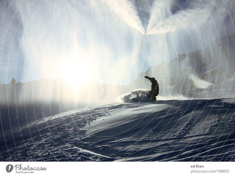 spray Lifestyle Style Leisure and hobbies Vacation & Travel Tourism Winter Snow Winter vacation Mountain Sports Winter sports Sportsperson Snowboard Ski run