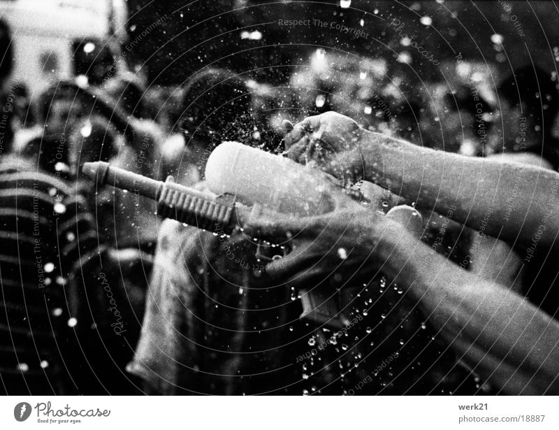Human being Hand Water Summer Berlin Party Love Parade