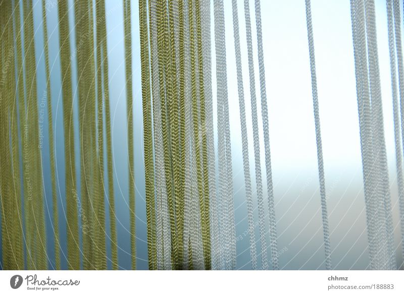 cords Drape Curtain Hang Thin Screening Vertical Line Green Thread Parallel Subdued colour Interior shot Shallow depth of field String Day