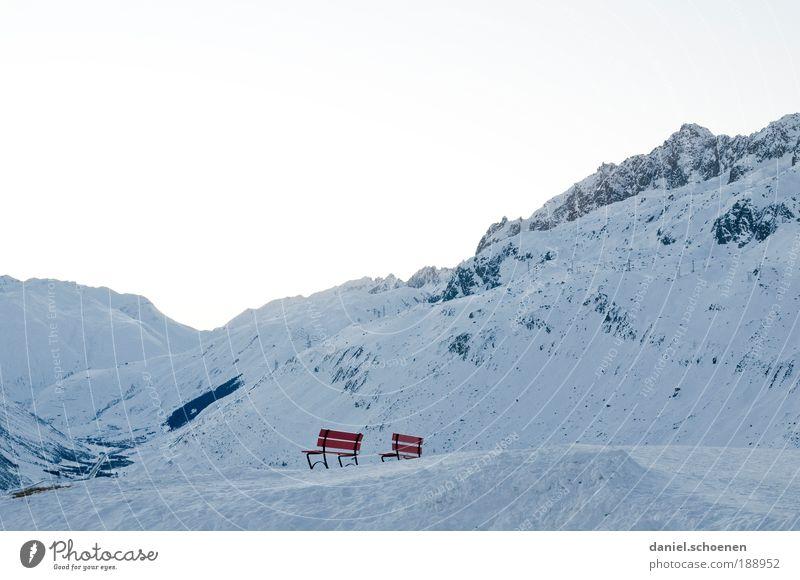 White Blue Red Winter Vacation & Travel Calm Loneliness Far-off places Cold Snow Relaxation Mountain Freedom Ice Bright Weather