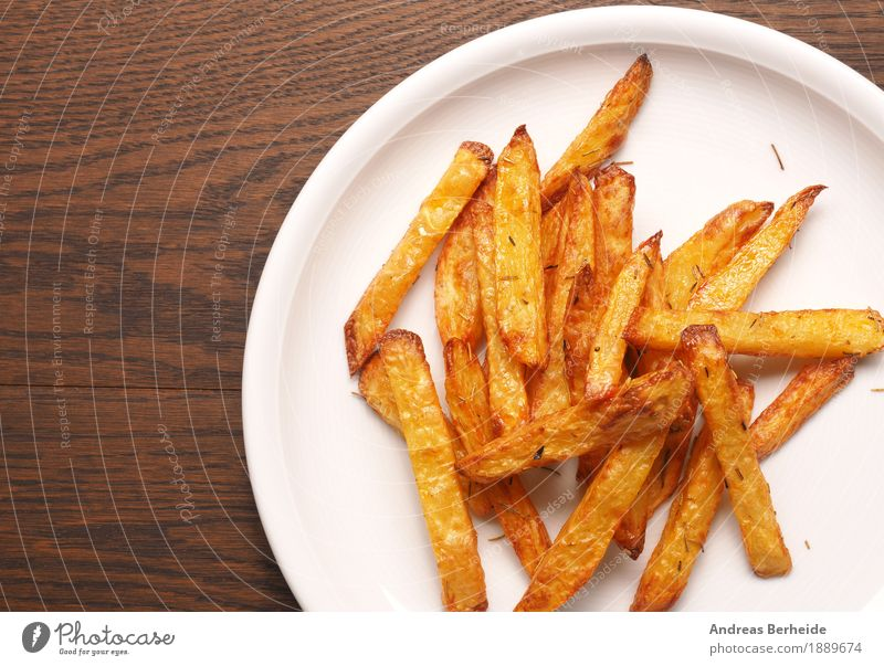 Today we have rosemary fries Lunch Organic produce Fast food Finger food Delicious French Fries homemade potato peaceful Snack baked Background picture