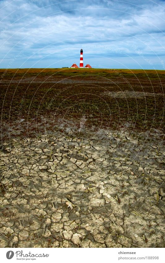 Lighthouse Westerhever Vacation & Travel Tourism Trip Ocean Nature Landscape Earth Climate North Sea Mud flats Walk along the tideland Sand Far-off places Free