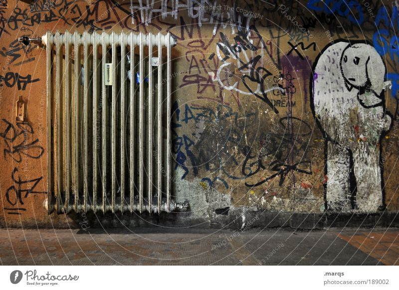 Wall (building) Environment Graffiti Warmth Style Wall (barrier) Dirty Interior design Elegant Design Energy industry Exceptional Characters Cool (slang) Lifestyle Uniqueness