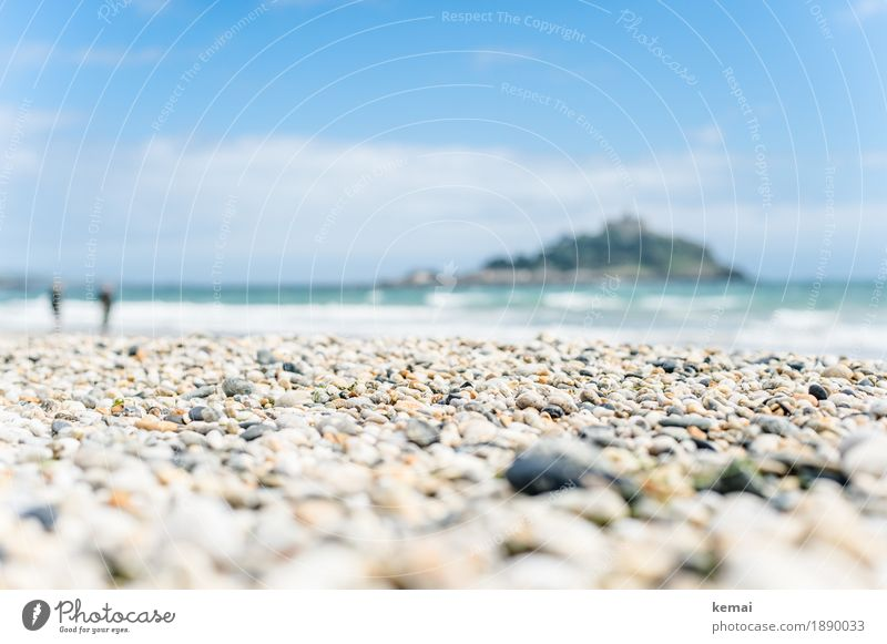 Peppled beach Harmonious Well-being Contentment Relaxation Calm Leisure and hobbies Vacation & Travel Tourism Trip Adventure Freedom Summer vacation Beach Ocean