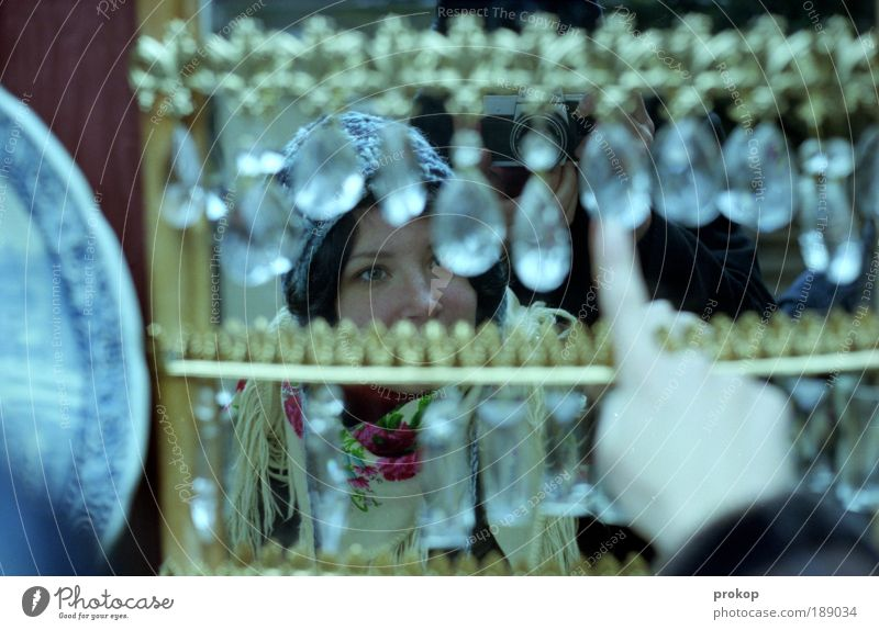 Woman Human being Youth (Young adults) Hand Beautiful Joy Adults Feminine Emotions Head Happy Style Glass Glittering Happiness Shopping