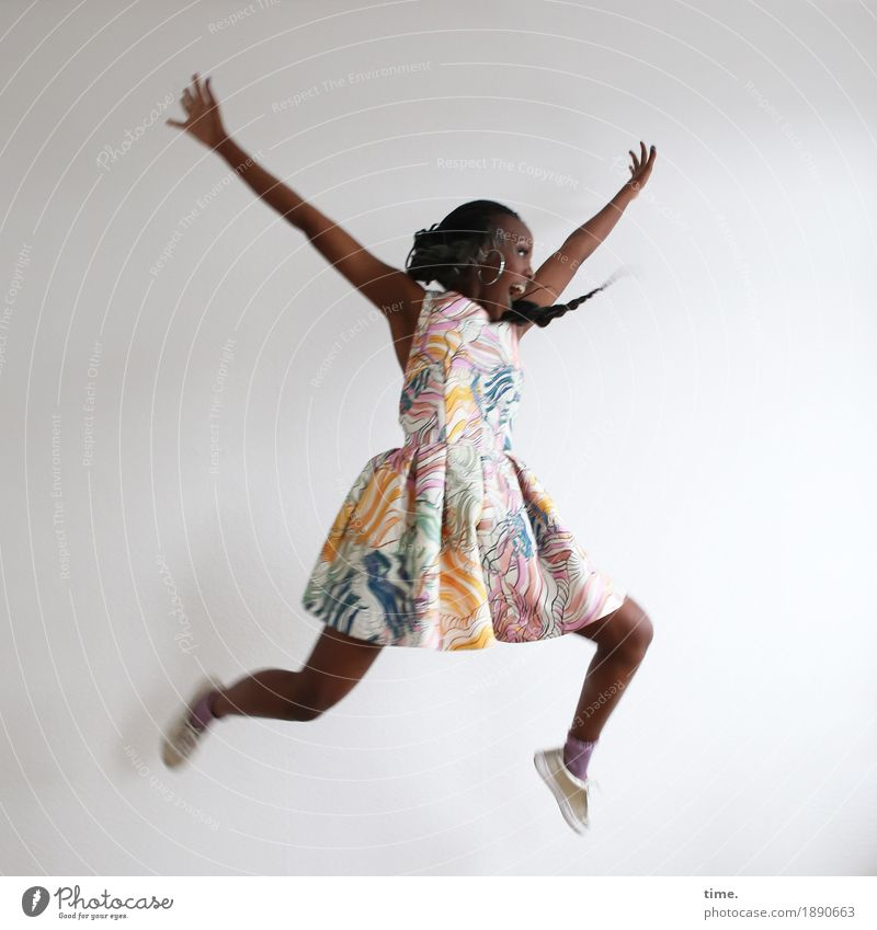 Human being Woman Beautiful Joy Adults Life Funny Sports Movement Feminine Laughter Exceptional Jump Creativity Happiness Dance