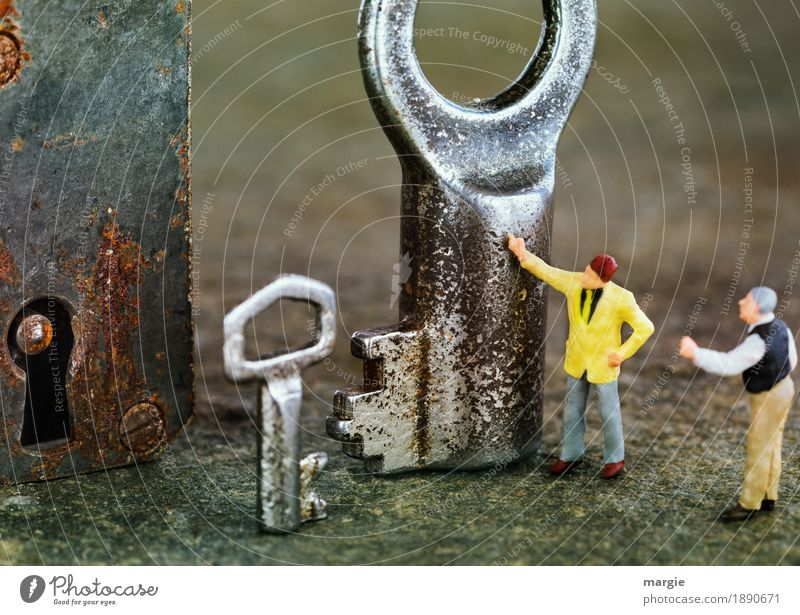 Miniwelten - No, the little one! SECOND Workplace Construction site Services Technology Human being Masculine Man Adults 2 Yellow Silver Communicate