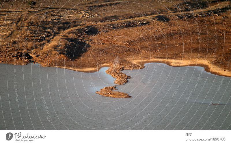 Piece of Earth Summer Water Landscape Red Far-off places Autumn Lanes & trails Brown Orange Earth Hill Skyline Landmark Desert Farm animal