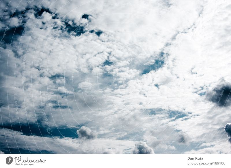 wide-wall sky Sky Sky only Clouds Summer Threat Kitsch Beautiful Soft Blue White Happiness Contentment Joie de vivre (Vitality) Euphoria Optimism Might Passion