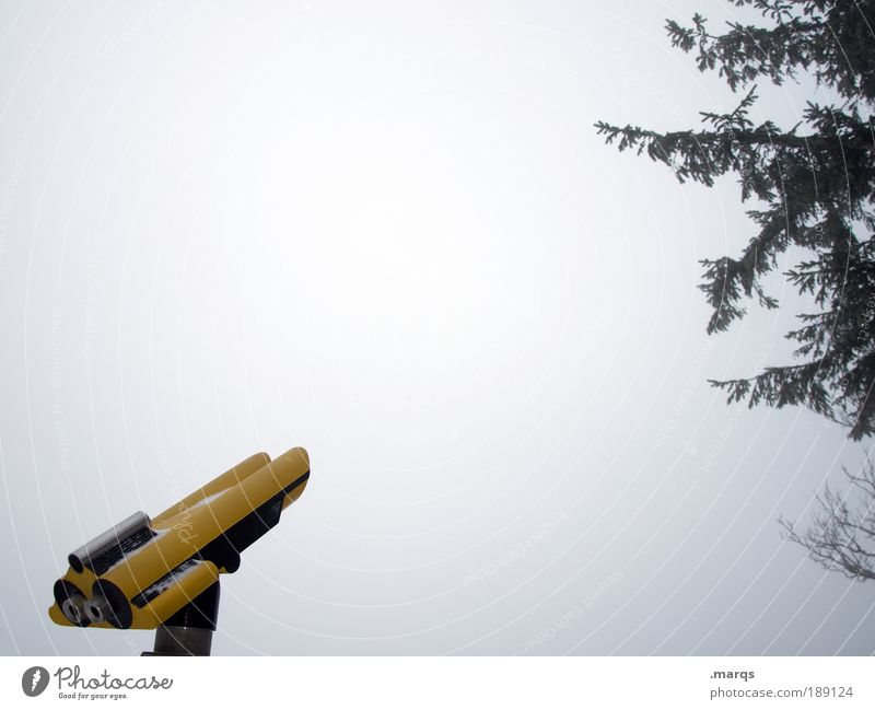 bleak prospects Leisure and hobbies Vacation & Travel Tourism Trip Far-off places Winter Telescope Sky Climate Bad weather Fog Ice Frost Tree Observe Discover