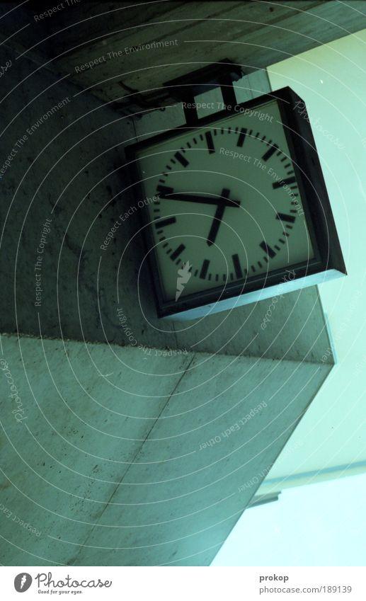 Cold Above Stone Contentment Tall Concrete Arrangement Modern Clock Perspective Future Change Simple End Services Stress