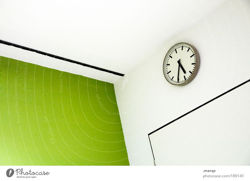 White Green Colour Architecture School Style Office Business Time Interior design Work and employment Leisure and hobbies Elegant Wait Clock Design