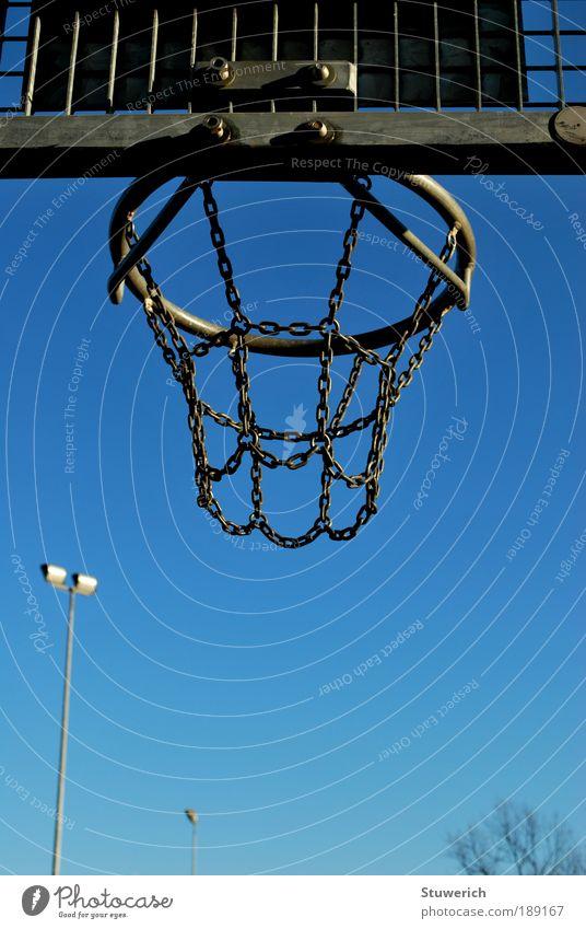 Sky Blue Sports Gray Metal Ball Net Basket Ball sports Sporting Complex