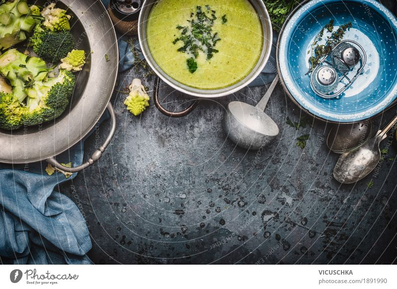 Green Healthy Eating Food photograph Life Yellow Style Design Living or residing Nutrition Table Herbs and spices Kitchen Vegetable Organic produce Crockery