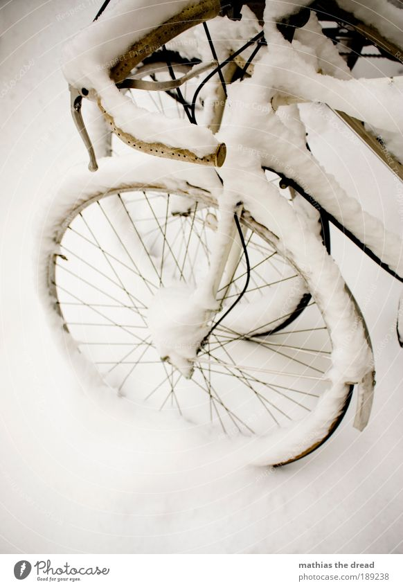 snow wheel Environment Nature Landscape Winter Ice Frost Snow Means of transport Street Esthetic Contentment Loneliness Apocalyptic sentiment Freedom Idyll