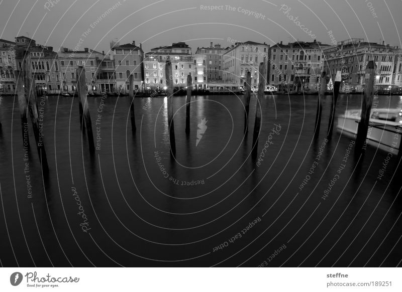 Water City Vacation & Travel Calm Dark Emotions Coast Moody Esthetic Romance Harbour Italy Skyline Jetty Downtown Venice