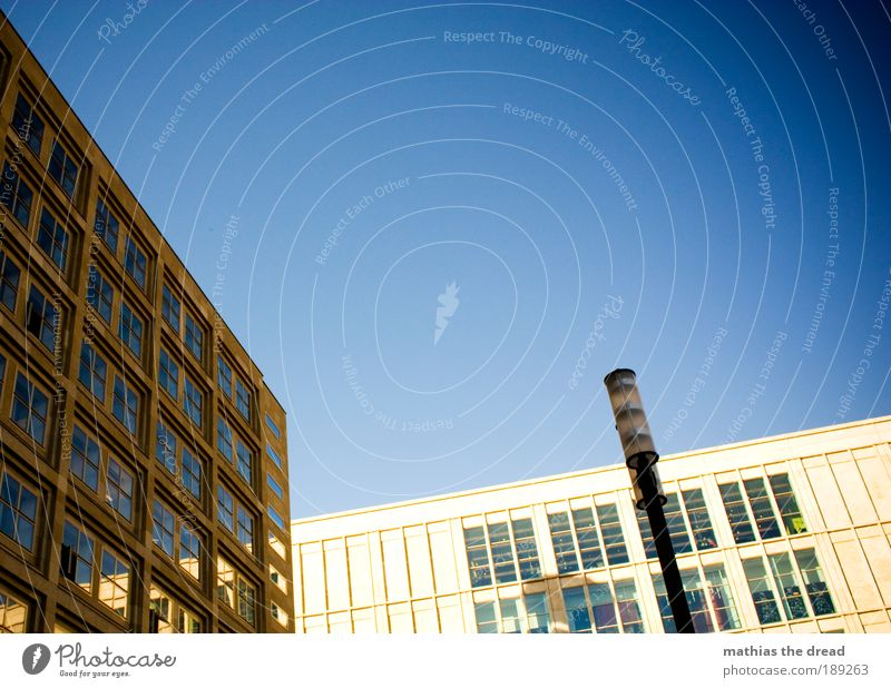 Text space on top Cloudless sky Beautiful weather Berlin Town Capital city Pedestrian precinct Skyline Manmade structures Building Architecture Facade Window