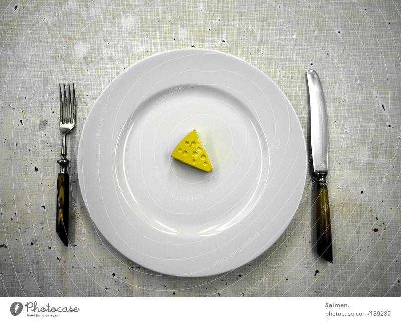 Small Nutrition Food Dirty Table Planning Dish Longing Appetite Crockery Delicious Hollow Plate Willpower Knives Diet