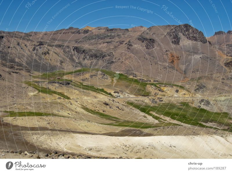 Road in Andes, Peru Beautiful Vacation & Travel Tourism Far-off places Freedom Safari Expedition Sun Mountain Landscape Plant Street Lanes & trails Infinity
