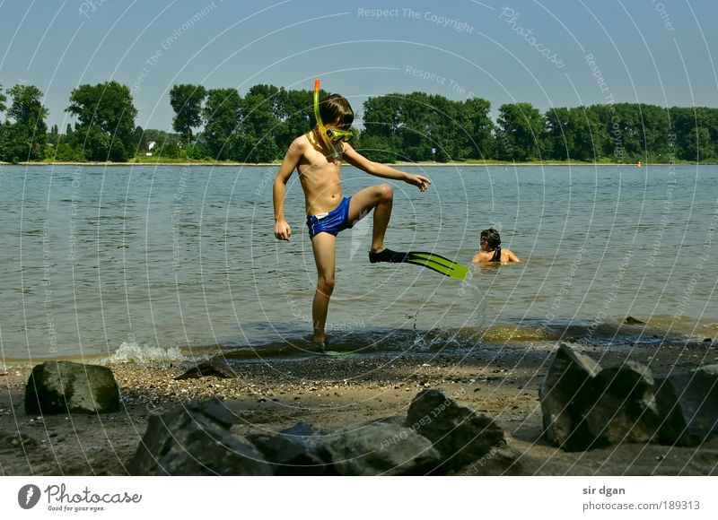 Human being Child Nature Water Summer Joy Landscape Sand Coast Infancy Wet Swimming & Bathing Fresh Adventure Drops of water Happiness