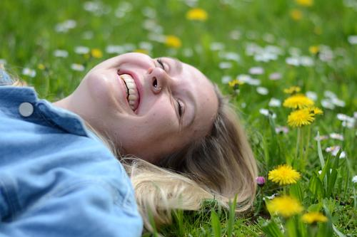 Nature Vacation & Travel Youth (Young adults) Beautiful Young woman Relaxation Joy 18 - 30 years Face Adults Meadow Lifestyle Grass Feminine Happy Laughter