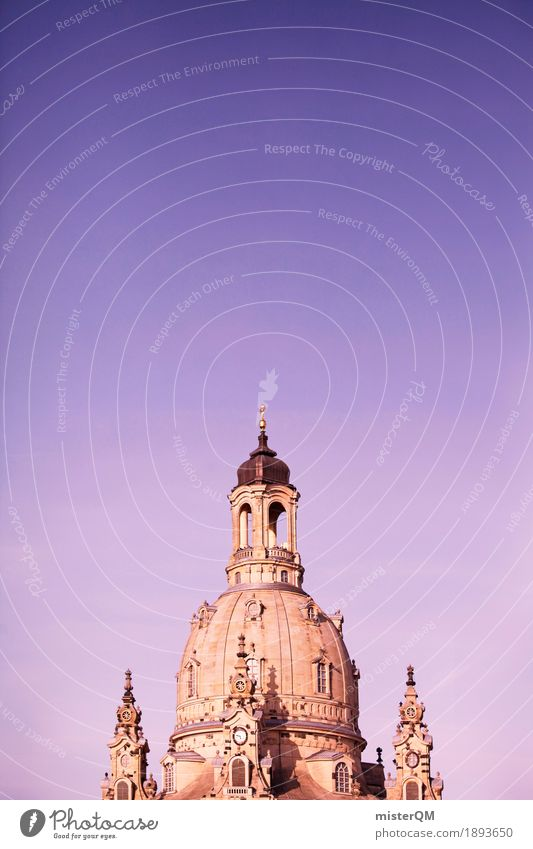 You put a finger in it and... Art Esthetic Architecture Dresden Frauenkirche Domed roof Church Religion and faith Tower Renaissance Baroque Old town
