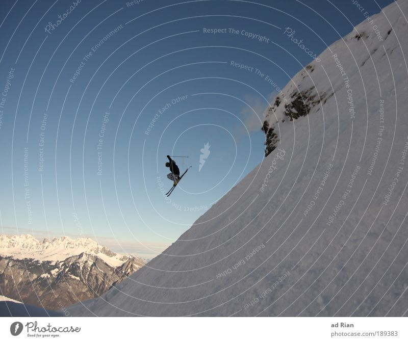 Nature Sun Joy Winter Mountain Snow Style Sports Healthy Freedom Flying Rock Jump Ice Air Leisure and hobbies