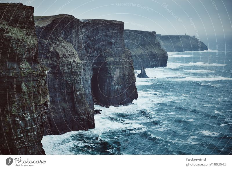 Cliffs of Moher Vacation & Travel Trip Adventure Far-off places Freedom Sightseeing Ocean Environment Nature Landscape Elements Water Climate Weather