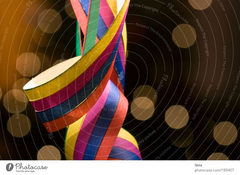 tingling Party Feasts & Celebrations Carnival New Year's Eve Decoration Paper streamers paper snakes Stripe Moody Joy Happiness Joie de vivre (Vitality)