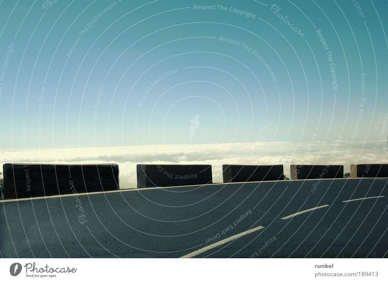 Caution Curve Vacation & Travel Tourism Far-off places Summer Summer vacation Island Mountain Sky Clouds Tenerife Canaries Deserted Motoring Overpass Driving