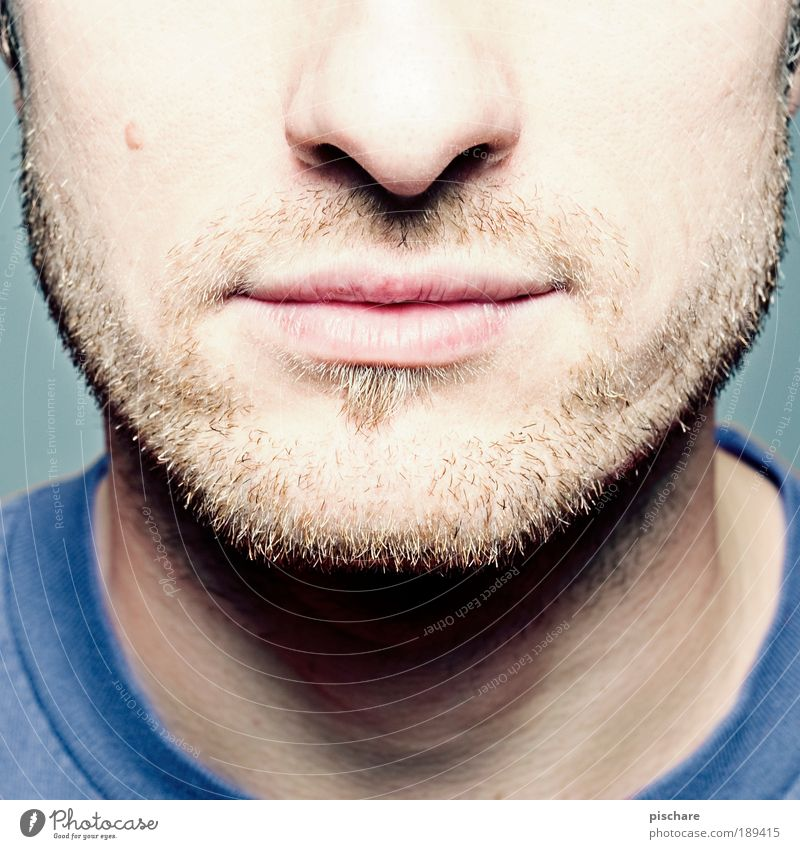 unshaven Skin Face Masculine Man Adults Nose Mouth Facial hair 18 - 30 years Youth (Young adults) Blonde Designer stubble Friendliness Rebellious Retro Thorny