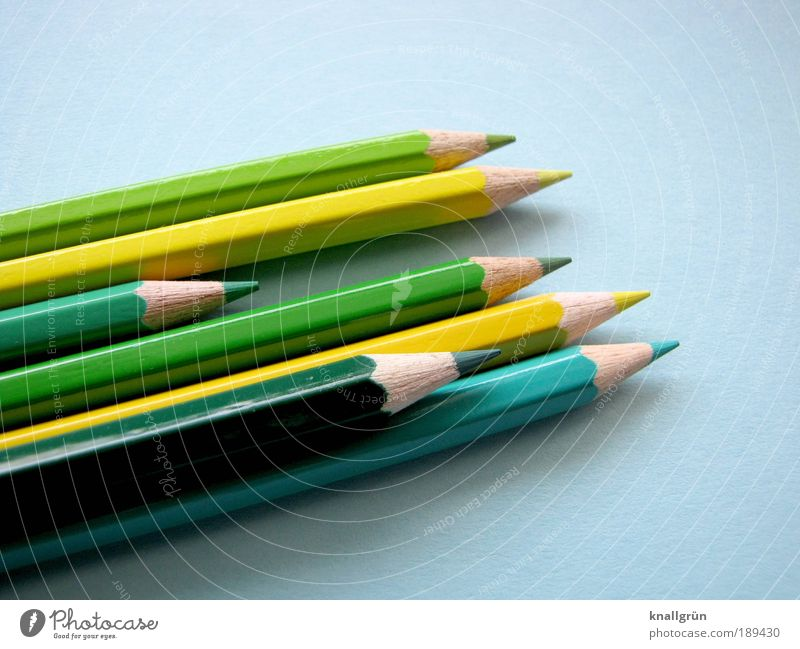Beautiful Green Blue Wood Communicate Point Draw Painting (action, artwork) Creativity 7 Sharp-edged Crayon Symbols and metaphors Sharpened