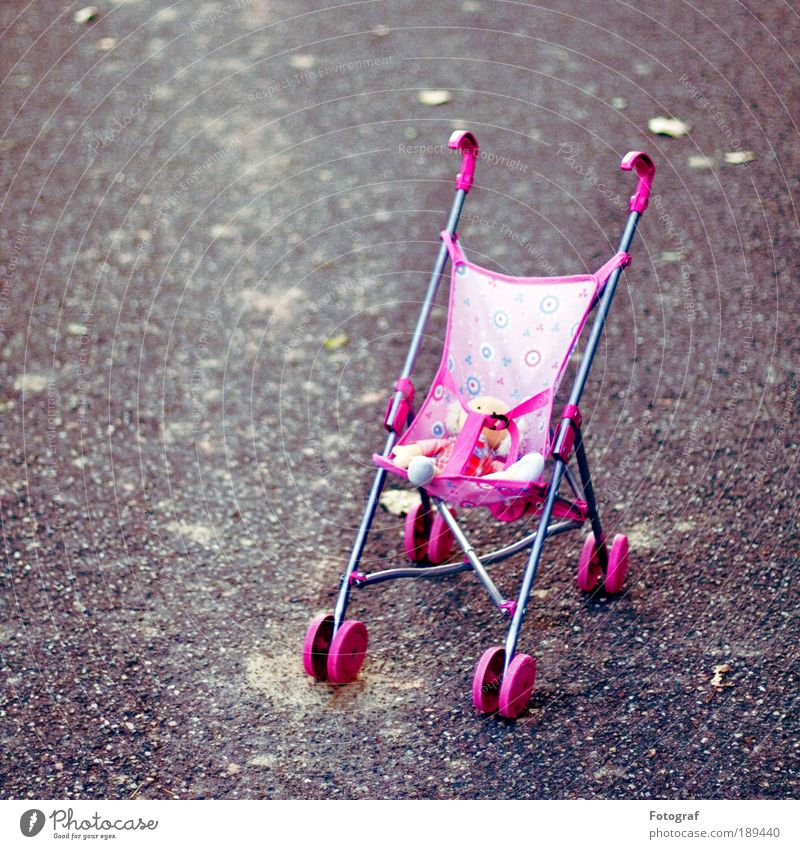 Waiting for Godot. Leisure and hobbies Playing Street Lanes & trails Exceptional Cold Gray Pink Calm Infancy Crisis Innocent Baby carriage Toys Doll