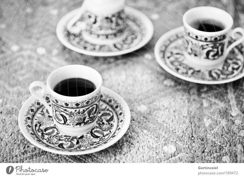 Nutrition Black & white photo Style Feasts & Celebrations Food Design Beverage Coffee Drinking Decoration Hot Crockery Delicious Cup Carpet Turkey