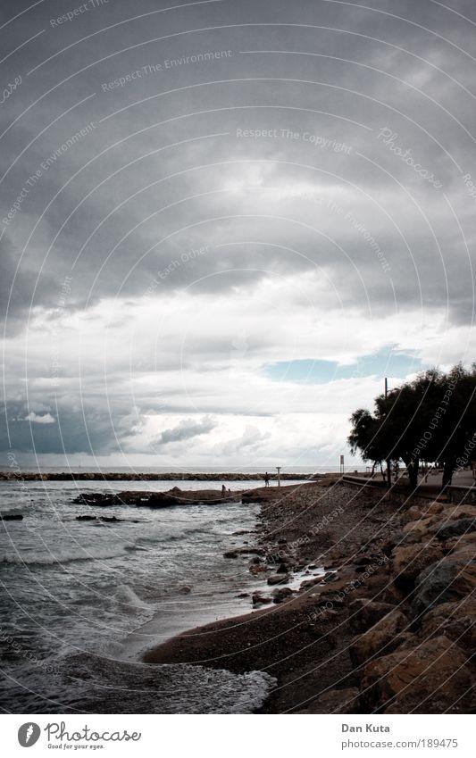 Ocean Summer Beach Clouds Dark Moody Waves Coast Wind Environment Threat Climate Gale Spain Storm Beautiful weather