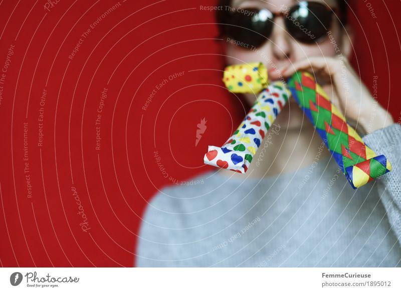 Human being Joy Feminine New Year's Eve Carnival Sunglasses Blow