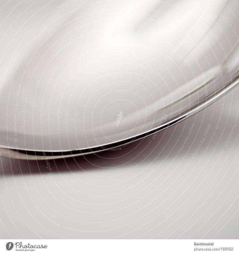 Dark Style Gray Line Bright Metal Glittering Design Elegant Corner Round Delicate Silver Smooth Noble
