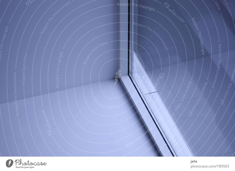 ROOM:01 Building Wall (barrier) Wall (building) Window Cold Blue White Corner Room Colour photo Interior shot Deserted Day Shadow