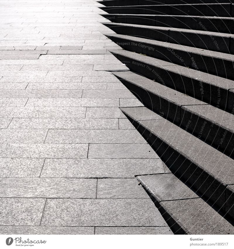 City Black Cold Gray Stone Stairs Upward Motionless Progress Direction Stone slab
