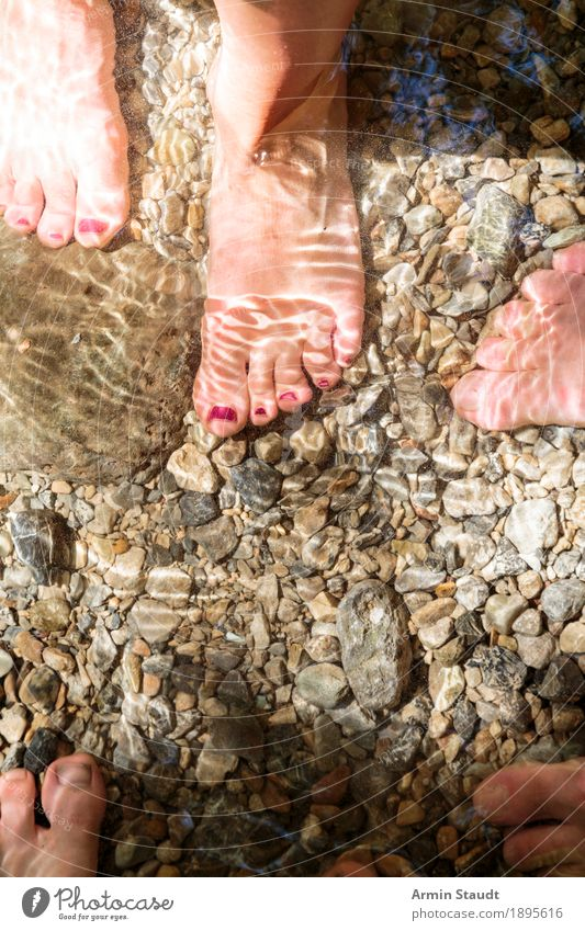 Feet in water Lifestyle Style Harmonious Leisure and hobbies Vacation & Travel Adventure Summer vacation Human being Woman Adults Family & Relations