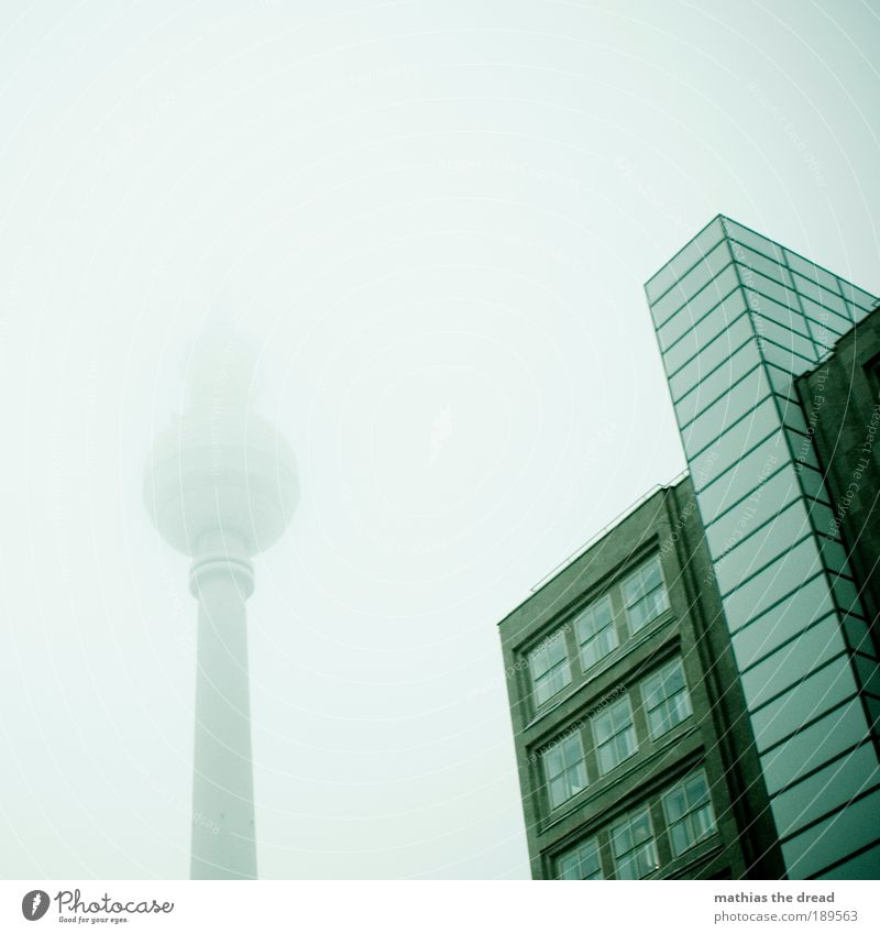 City Loneliness Cold Berlin Autumn Building Rain Architecture Fog High-rise Tall Gloomy Delicate Exceptional Sphere