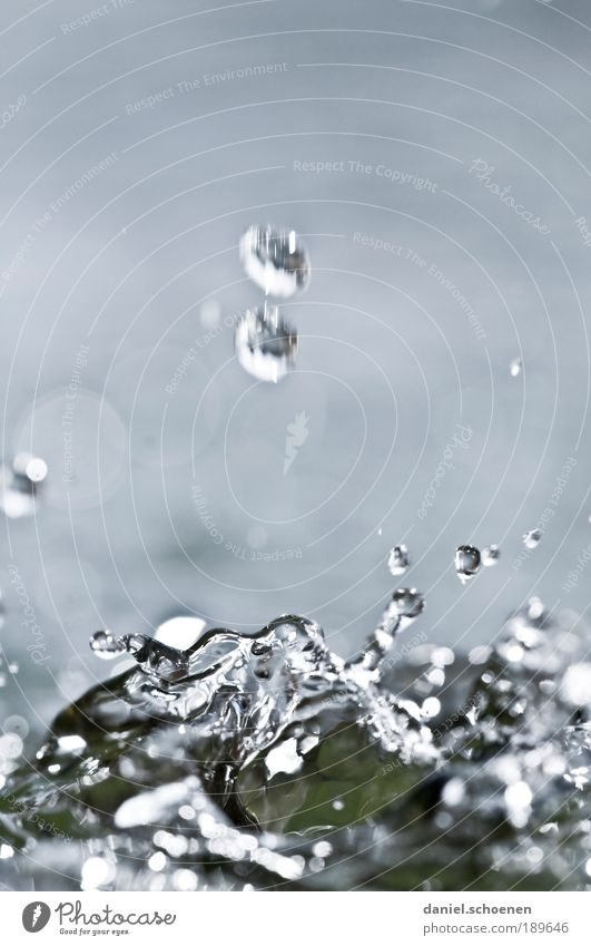 Water Blue Movement Drops of water Clean Well Fluid Elements Bizarre Brook Colour