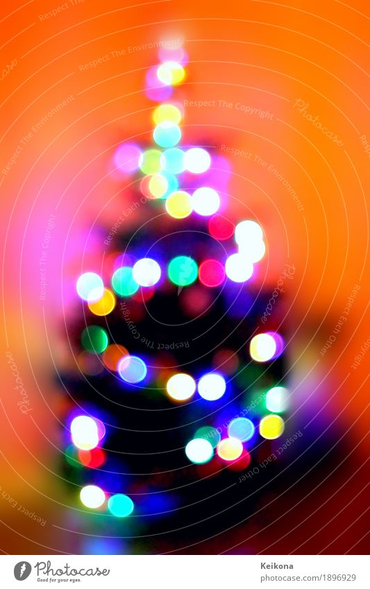 Abstract Christmas tree bokeh image. Joy Interior design Decoration Entertainment Party Feasts & Celebrations Christmas & Advent New Year's Eve Art Work of art